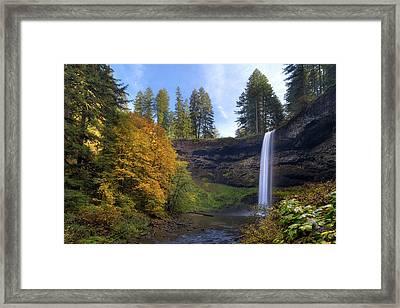 Fall Colors At South Falls Framed Print by David Gn