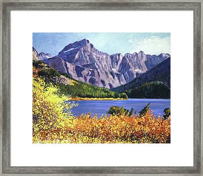 Fall Colors Framed Print by David Lloyd Glover
