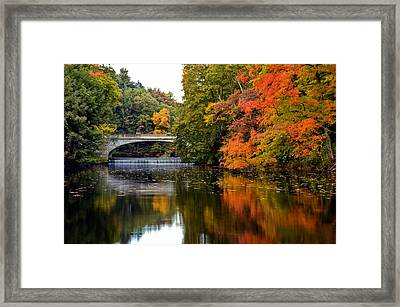 Fall Colors In New York State Framed Print