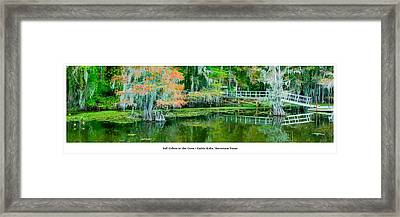 Fall Colors In The Cove Framed Print by Geoff Mckay