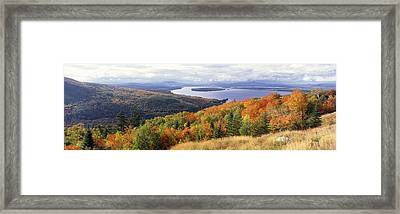 Fall Colors Mooselookmeguntic Lake Me Framed Print