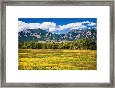 Fall Colors Of Boulder Colorado Framed Print