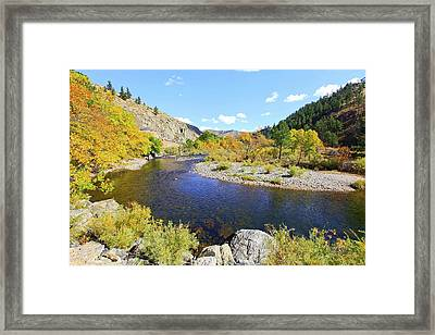 Fall Colors On The Poudre Framed Print