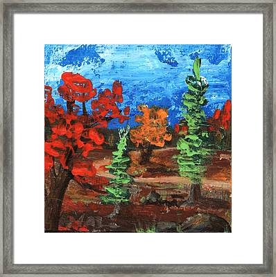 Framed Print featuring the painting Fall Colours #1 by Anastasiya Malakhova