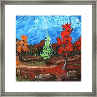 Framed Print featuring the painting Fall Colours #2 by Anastasiya Malakhova