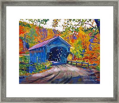 Fall Comes To Downer Vermont Framed Print