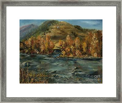 Fall Comes To The M Framed Print by Jodi Monahan
