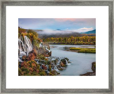 Fall Creek Autumn Framed Print