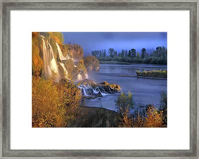 Fall Creek Autumn Framed Print by Leland D Howard