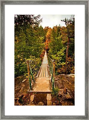 Fall Creek Falls Bridge Framed Print