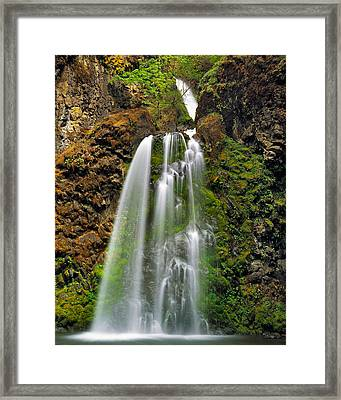 Fall Creek Falls Framed Print by Leland D Howard