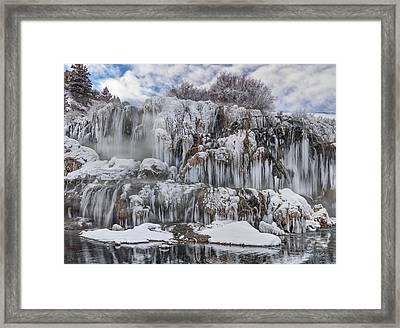 Fall Creek Falls Winter Framed Print by Leland D Howard