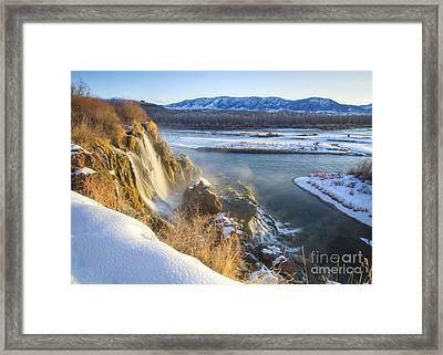 Fall Creek Winter Framed Print