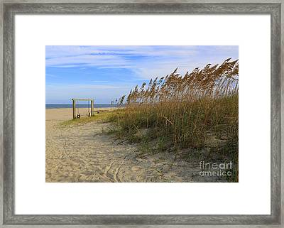 Fall Day On Tybee Island Framed Print