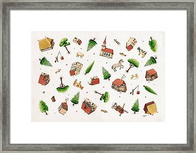 Fall Down Framed Print by Kestutis Kasparavicius