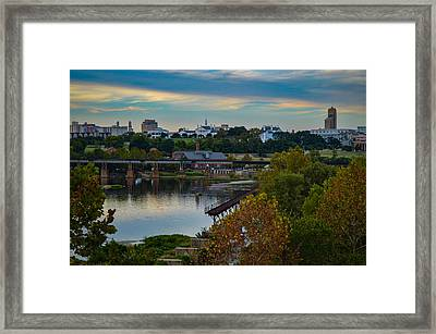 Fall Evening In Richmond Framed Print