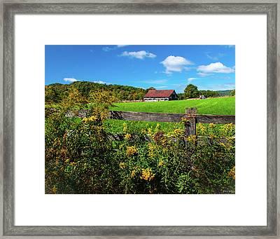 Framed Print featuring the photograph Fall Farm by Rebecca Hiatt