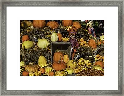 Fall Farm Stand Framed Print