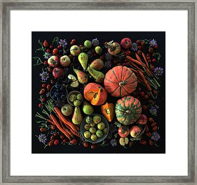 Fall Farmers' Market Framed Print