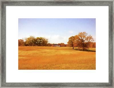 Fall Field - Rural Landscape Framed Print by Barry Jones