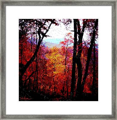 Fall Fire Framed Print by Gerhardt Isringhaus