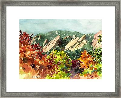 Fall Flatirons Framed Print