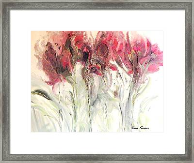 Fall Flowers Bloweth Framed Print by Lisa Kaiser