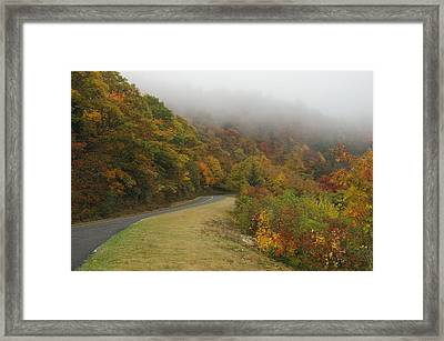 Fall Fog On The Blue Ridge Parkway Framed Print by Cindy Hicks