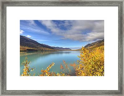 Fall Foliage Along Eklutna Lake Framed Print