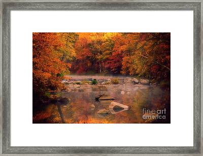 Fall Foliage And A Wisconsin River Framed Print
