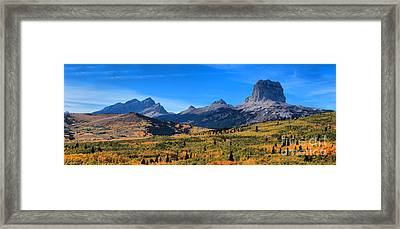 Fall Foliage At Chief Mountain Framed Print by Adam Jewell