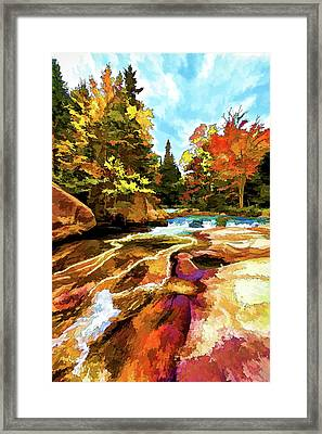 Fall Foliage At Ledge Falls 1 Framed Print by ABeautifulSky Photography