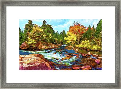 Fall Foliage At Ledge Falls 2 Framed Print by ABeautifulSky Photography