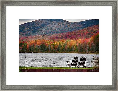 Fall Foliage At Noyes Pond Framed Print
