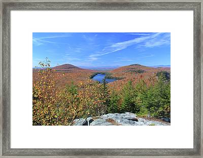 Fall Foliage At Owl's Head Groton State Forest Framed Print by John Burk