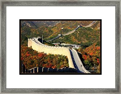 Fall Foliage At The Great Wall Framed Print by Carol Groenen
