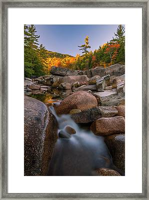 Framed Print featuring the photograph Fall Foliage In New Hampshire Swift River by Ranjay Mitra
