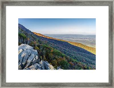 Framed Print featuring the photograph Fall Foliage In The Blue Ridge Mountains by Lori Coleman