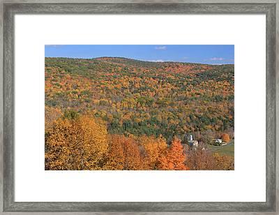 Fall Foliage On The Appalachian Trail Tyringham Cobble Framed Print by John Burk