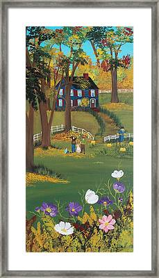 Framed Print featuring the painting Fall Foliage by Virginia Coyle