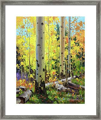 Fall Forest Symphony II Framed Print by Gary Kim