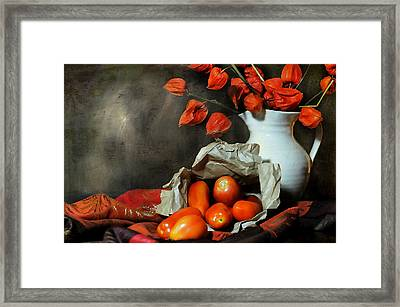 Fall Forward Framed Print by Diana Angstadt