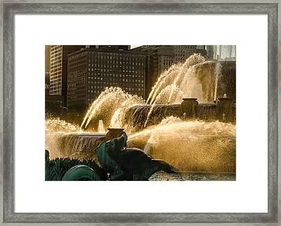 Fall Fountain Framed Print