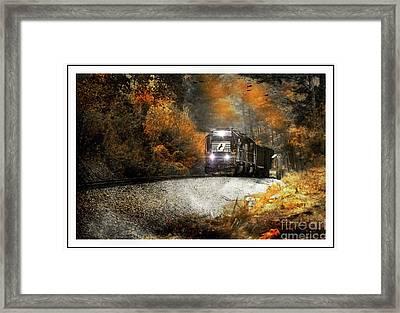 Fall Freight Framed Print