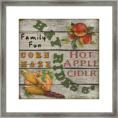 Fall Harvest-jp3628 Framed Print by Jean Plout