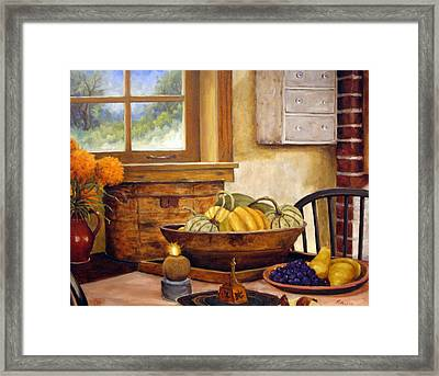 Fall Harvest Framed Print by Richard T Pranke