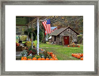 Framed Print featuring the photograph Fall Harvest - Rural America by DJ Florek