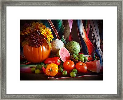Framed Print featuring the painting Fall Harvest Still Life by Marilyn Smith