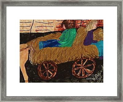 Fall Hayride Framed Print by Elinor Rakowski
