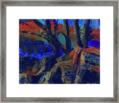 Fall Hiking Trail 1 Framed Print